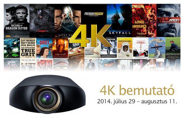 4K demo a Dream Cinema bemutató házában