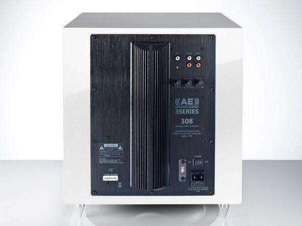 Acoustics Energy AE308 aktív mélyláda hátlap