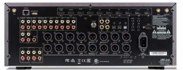Arcam AV40 házimozi processzor hátlap