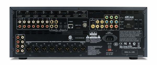 Arcam AV950 házimozi processzor hátlap