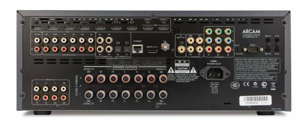 Arcam AVR380 házimozi erősítő hátlap