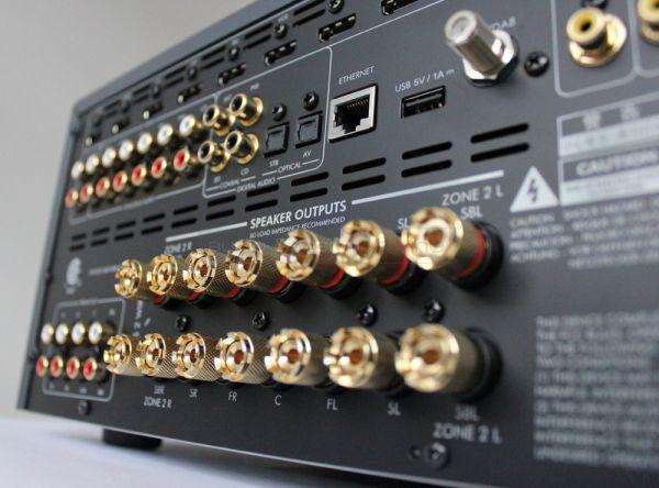Arcam AVR750 házimozi erősítő hátlap