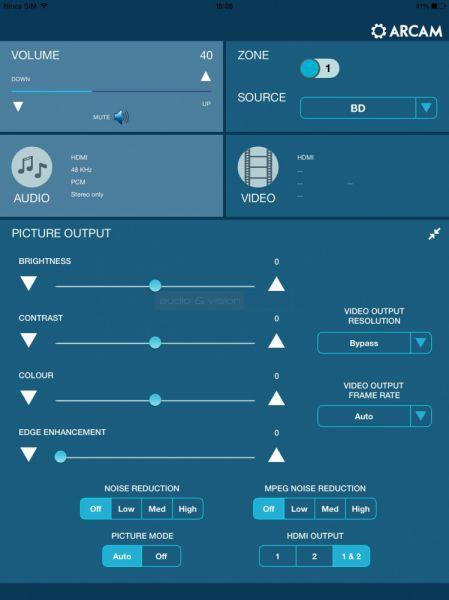Arcam AVR750 házimozi erősítő távvezérlő App