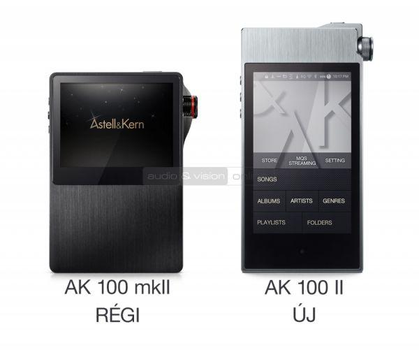 Astell and Kern AK100 II és AK100 mkII audio lejátszók