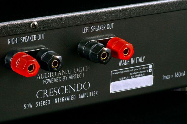 Audio Analogue Crescendo sztereó erősítő hátlap