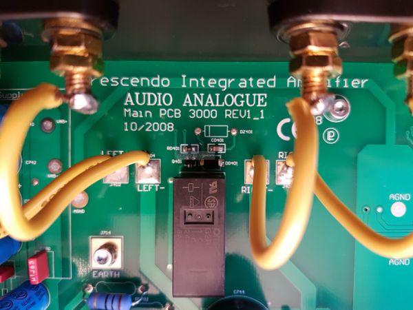 Audio Analogue Crescendo sztereó erősítő belső