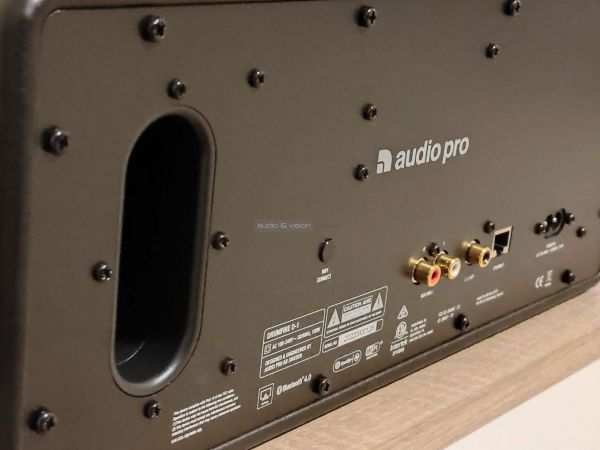 Audio Pro D-1 multiroom hangszóró hátlap