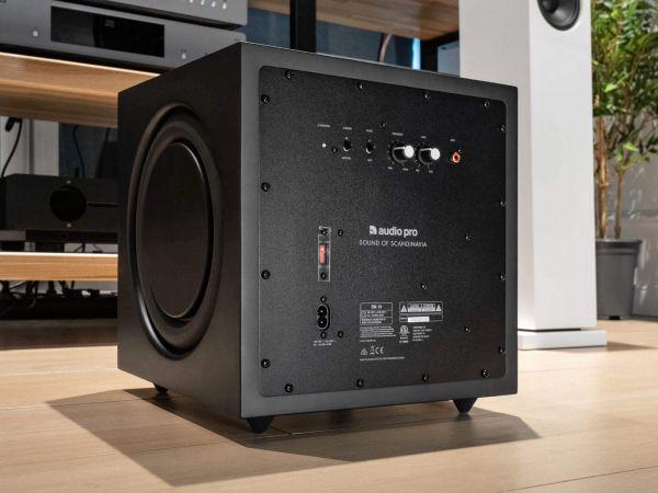 Audio Pro SW-10 aktív mélyláda hátlap