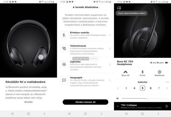 Bose Noise Cancelling Headphones 700 aktív zajzáras Bluetooth fejhallgató App