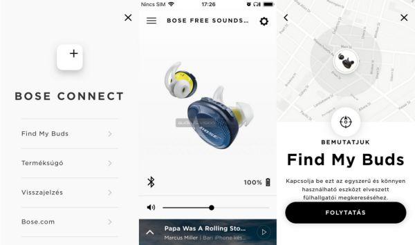 Bose SoundSport Free Bluetooth sportfülhallgató App