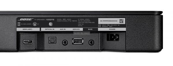 Bose TV Speaker soundbar hátlap