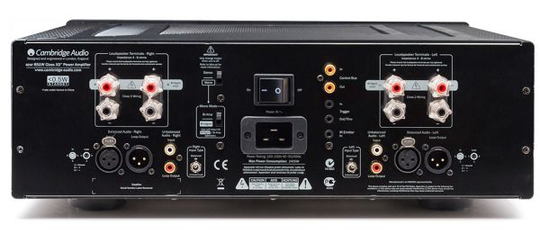 Cambridge Audio 851W sztereó végfok hátlap