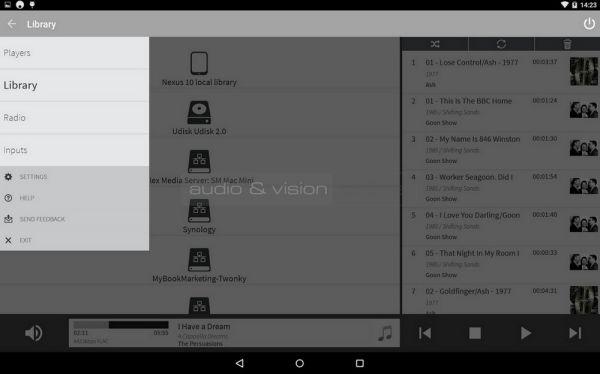Cambridge Audio 851N hálózati lejátszó remote App