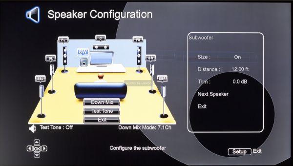 Cambridge Audio CXU Blu-ray lejátszó hangfal setup menü