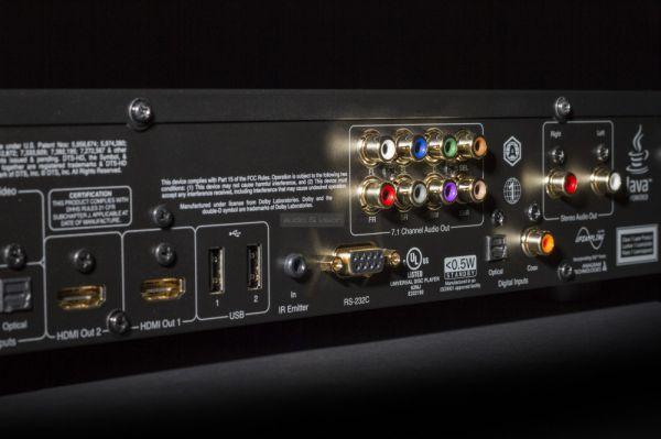 Cambridge Audio CXU Blu-ray lejátszó hátlapi csatlakozók