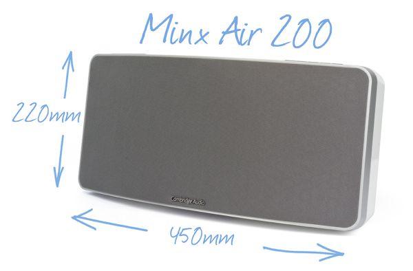 Cambridge Audio Minx Air 200 méretek
