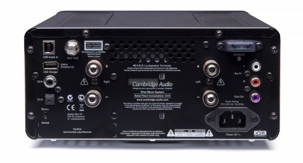 Cambridge Audio ONE mikro hifi rendszer hátlap