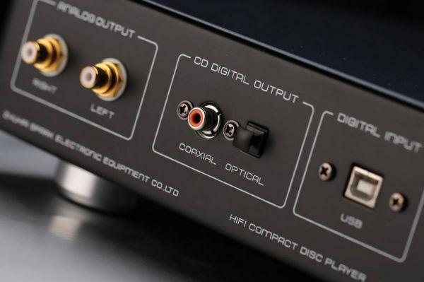 Cayin CS-55CD csöves CD-lejátszó csatlakozók