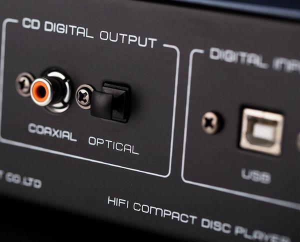 Cayin CS-55CD csöves CD-lejátszó digitális csatlakozók