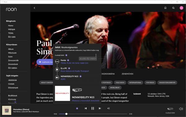 Cocktail Audio N15D hálózati zenelejátszó Roon Asio