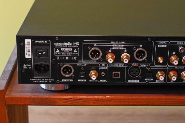 Cocktail Audio X45 hálózati zenelejátszó hátlap