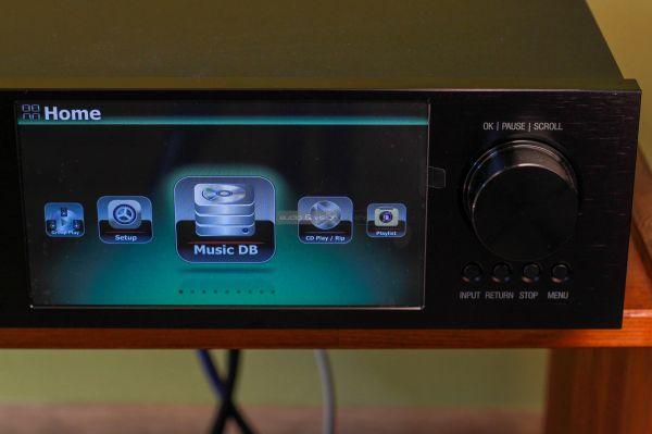 Cocktail Audio X45 hálózati zenelejátszó kijelző