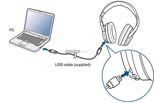 Denon AH-GC30 aktív zajzáras Bluetooth fejhallgató USB DAC