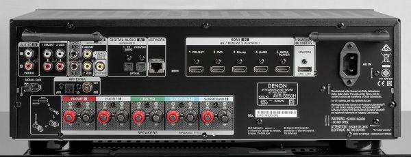 Denon AVR-S650H házimozi erősítő hátlap