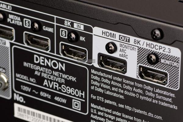 Denon AVR-S960H házimozi erősítő HDMI