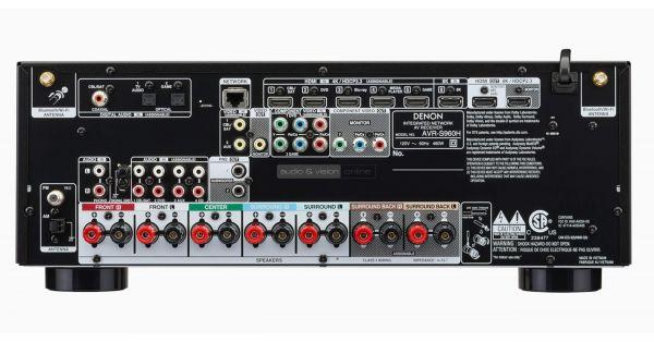 Denon AVR-S960H házimozi erősítő hátlap