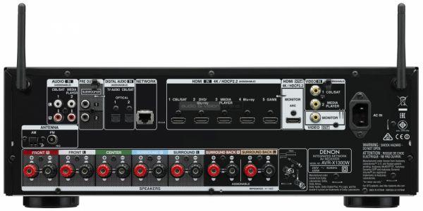 Denon AVR-X1300W házimozi erősítő hátlap