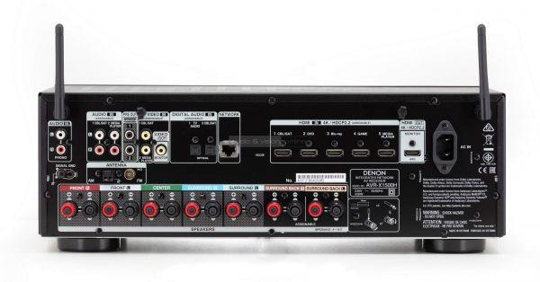 Denon AVR-X1500H házimozi erősítő hátlap