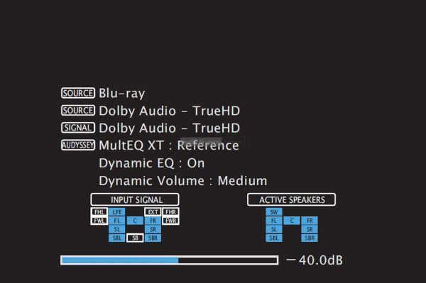 Denon AVR-X1500H házimozi erősítő menü - Audio Format