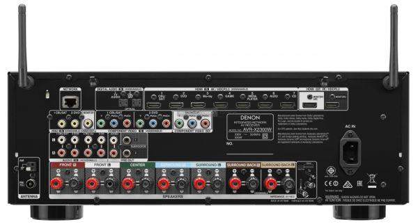 Denon AVR-X2300W házimozi erősítő csatlakozo