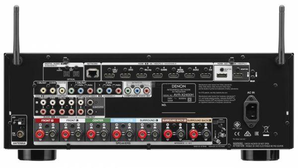 Denon AVR-X2400H házimozi erősítő hátlap