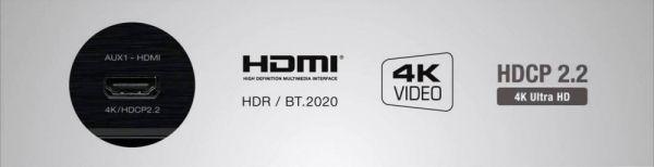 Denon AVR-X2400H házimozi erősítő front HDMI