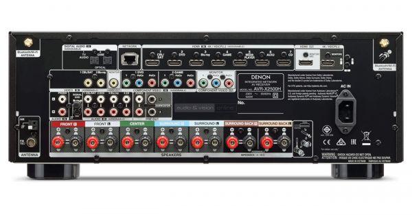 Denon AVR-X2500H házimozi erősítő hátlap