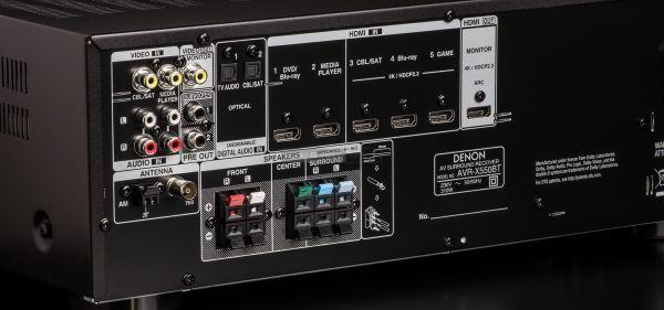 Denon AVR-X550BT házimozi erősítő hátlap