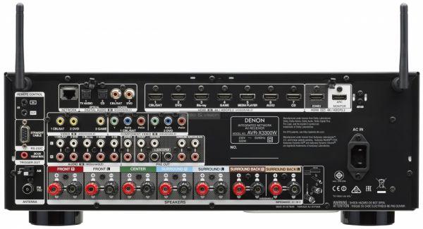 Denon AVR-X3300W házimozi erősítő hátlap