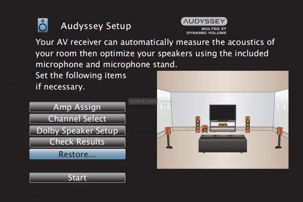 Denon AVR-X3500H házimozi erősítő menü - Audyssey Setup