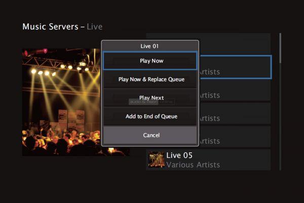Denon AVR-X3500H házimozi erősítő menü - Music Servers