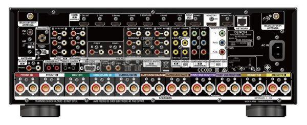 Denon AVR-X5200W Dolby Atmos házimozi erősítő hátlap