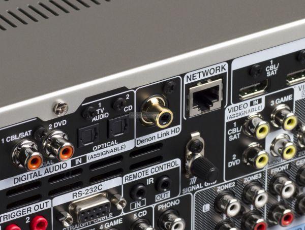 Denon AVR-X4300H házimozi erősítő hátlap