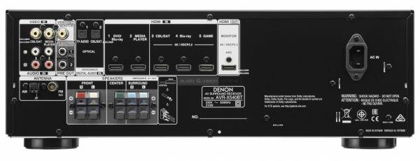 Denon AVR-X540BT házimozi erősítő hátlap