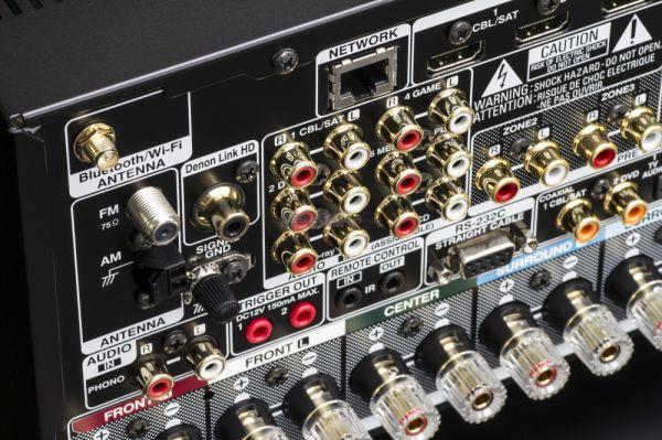 Denon AVR-X6400H házimozi erősítő hátlap
