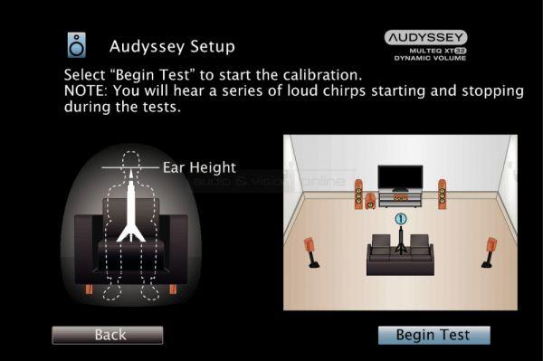 Denon AVR-X7200W Dolby Atmos házimozi erősítő Audyssey Setup beállítás