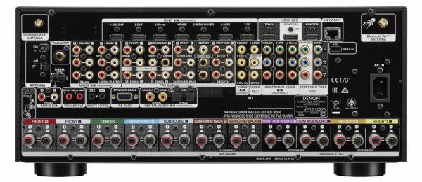 Denon AVR-X7200W Dolby Atmos házimozi erősítő hátlap