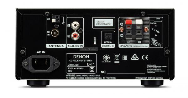 Denon D-T1 mikro hifi rendszer hátlap