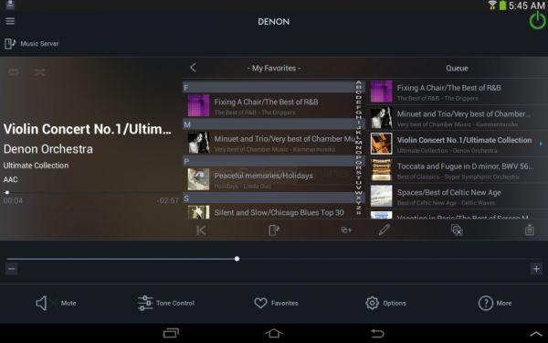 Denon DNP-730AE hálózati audio lejátszó Remote App