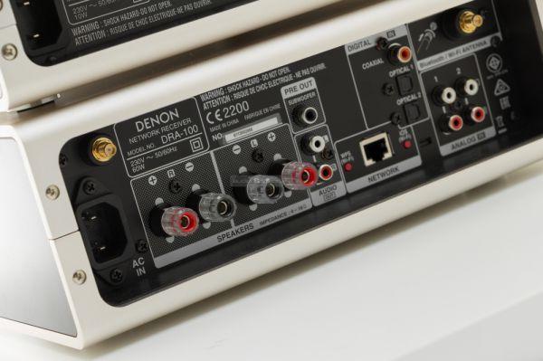 Denon DRA-100 sztereó erősítő hátlap